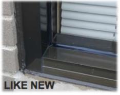 like new aluminum window